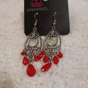 Fashion Flirt Red Earrings NWT